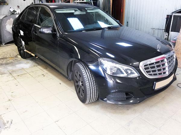 Фото Mercedes после покраски