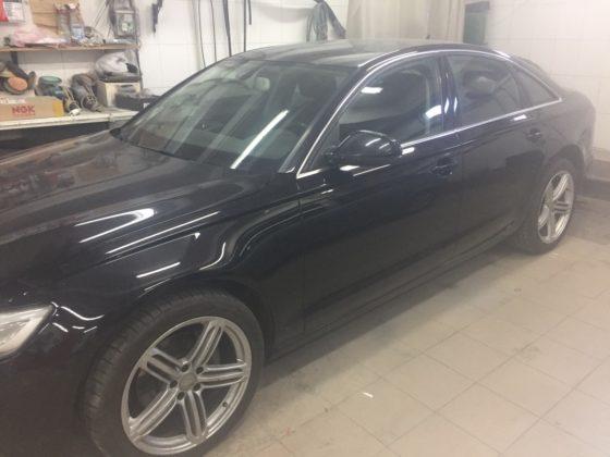 Восстановление левой части Audi с покраской