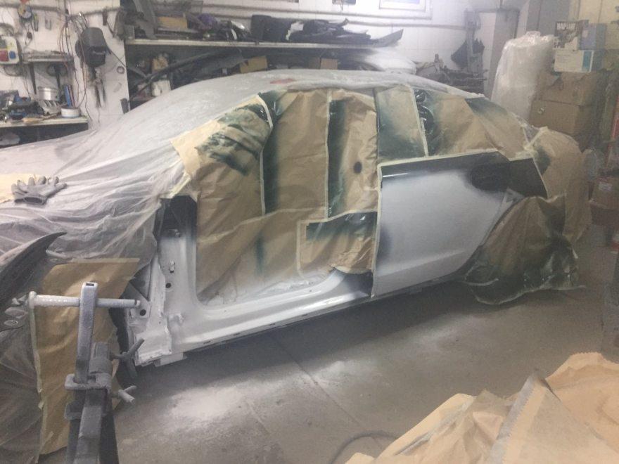 Фото Audi A6 перед ремонтом кузова