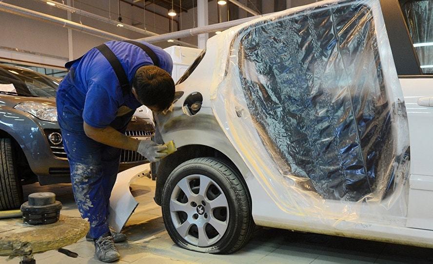 фото косметический ремонт авто в Калининграде