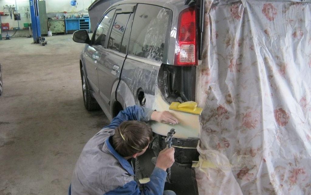 фото косметического ремонта кузова в автосервисе