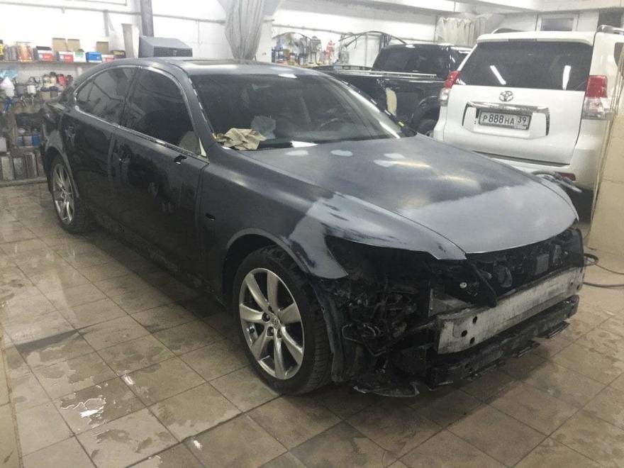 Lexus фото до кузовного ремонта «АвтосервисПрофи»