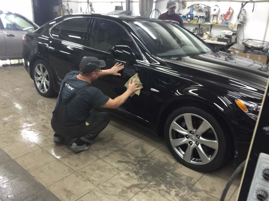 Lexus полная покраска + ремонт бампера фото «АвтосервисПрофи»