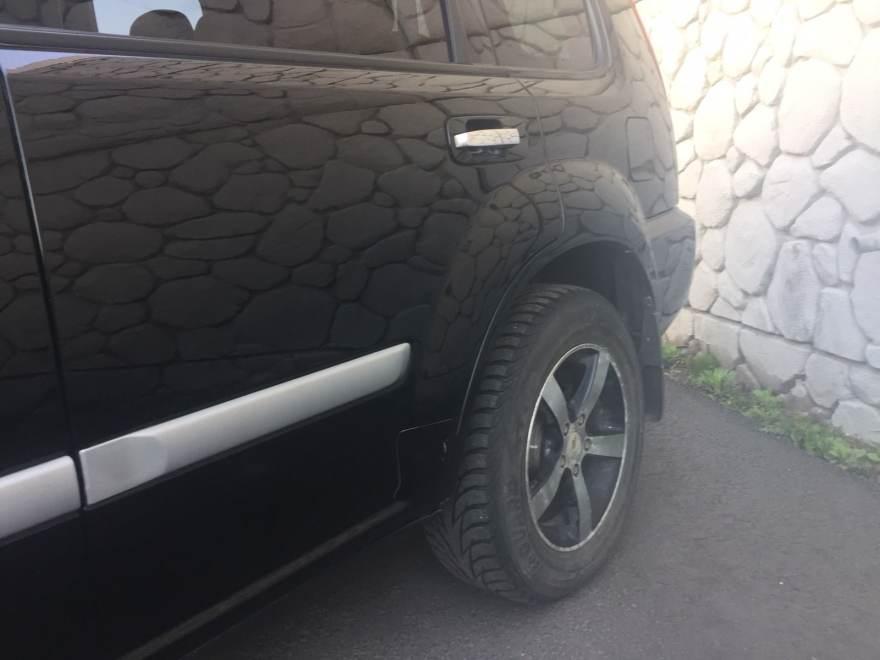Фото результат ремонта, замены и покраски порогов Nissan