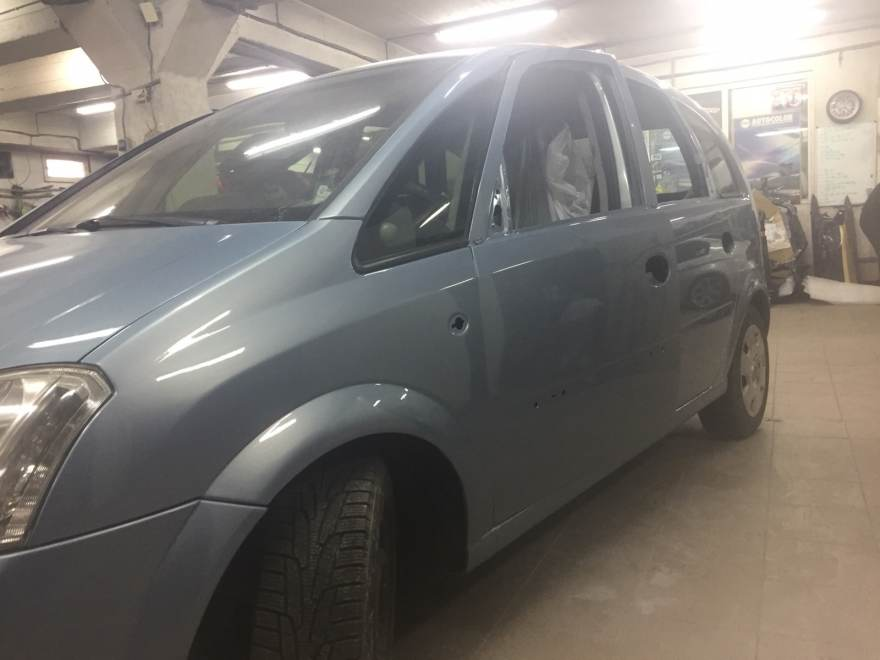 Фото результата ремонта после ДТП Opel Meriva