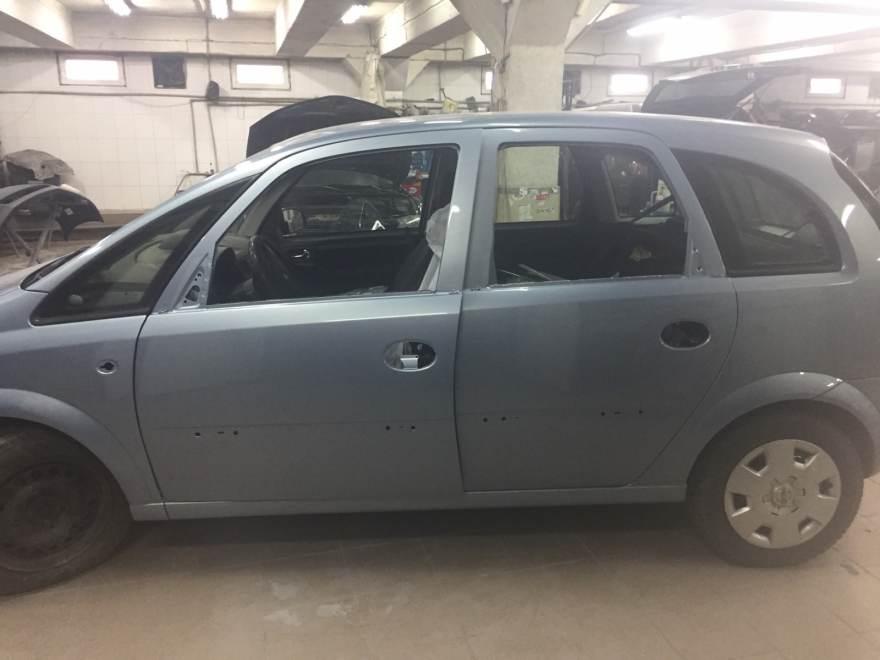 Фото кузовного ремонта и покраски Opel Meriva