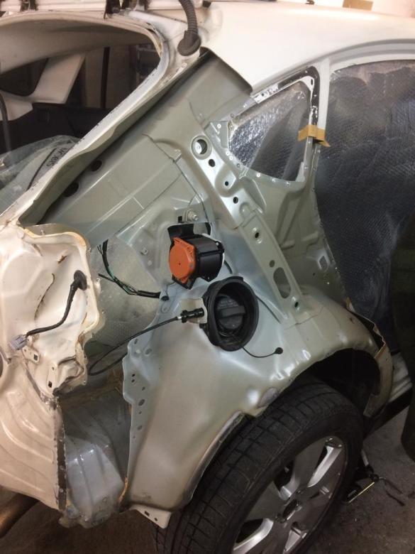 Фото подготовки к ремонту и замене деталей