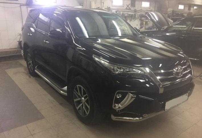 Фото покрытия кузова Toyota кермикой
