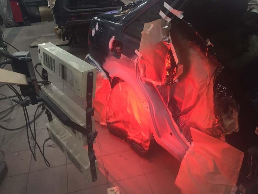 Фото подготовки авто к покраске