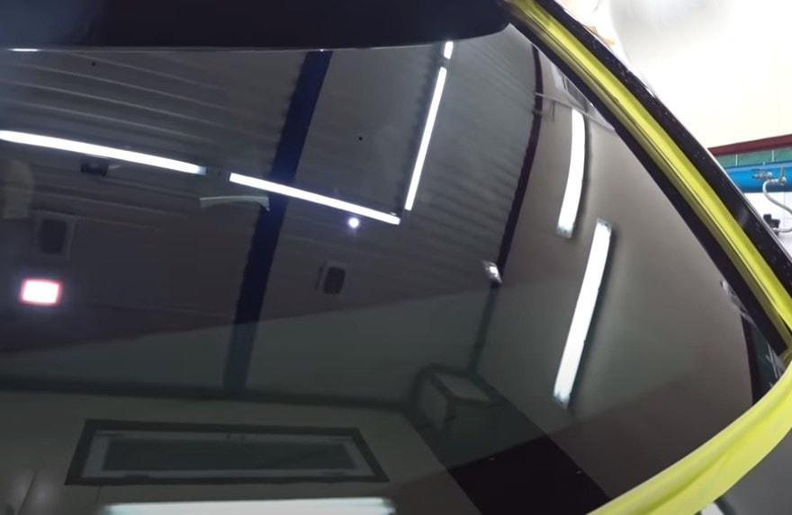 Фото стекла после полировки