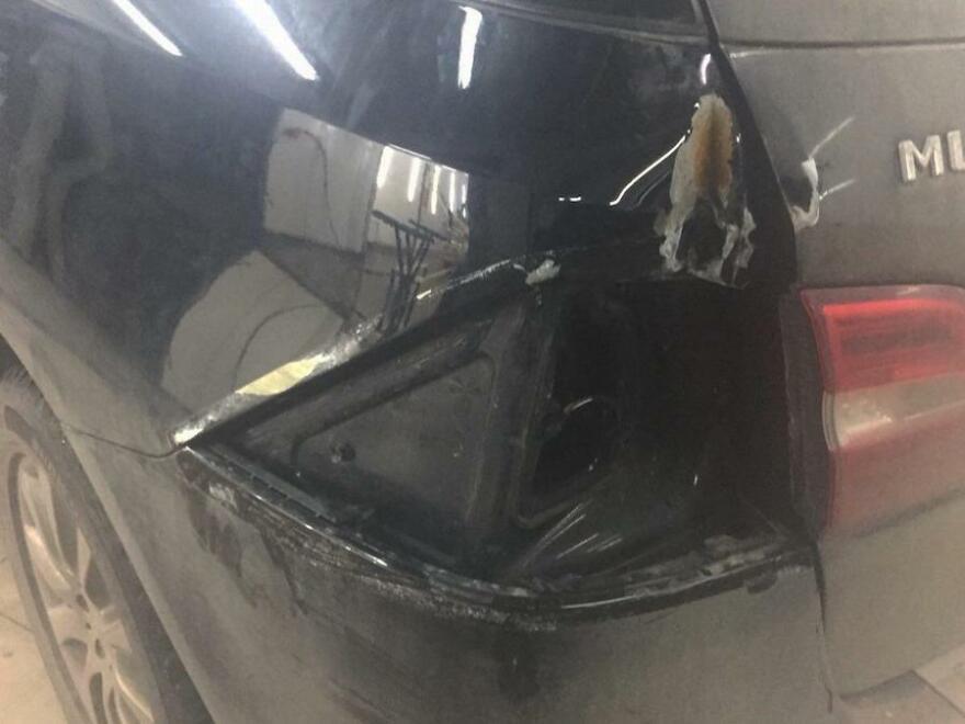 Фото до ремонта Mercedes ML350