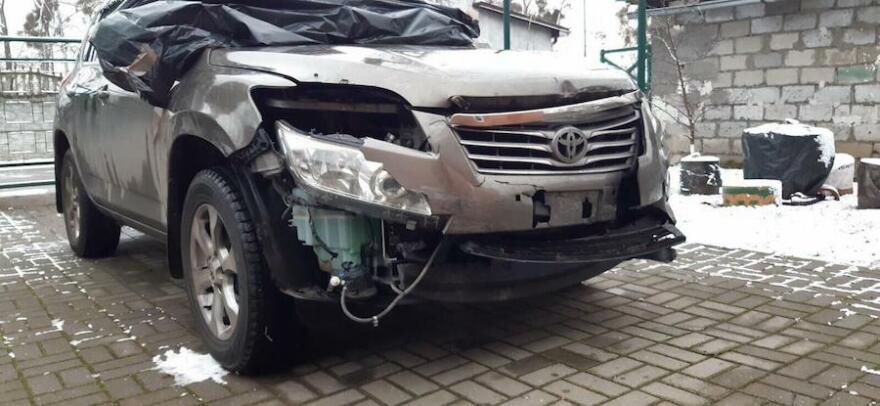 Фото Toyota после ДТП