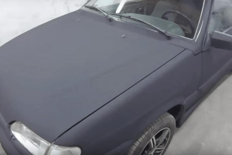 Фото покраски раптором легкового авто